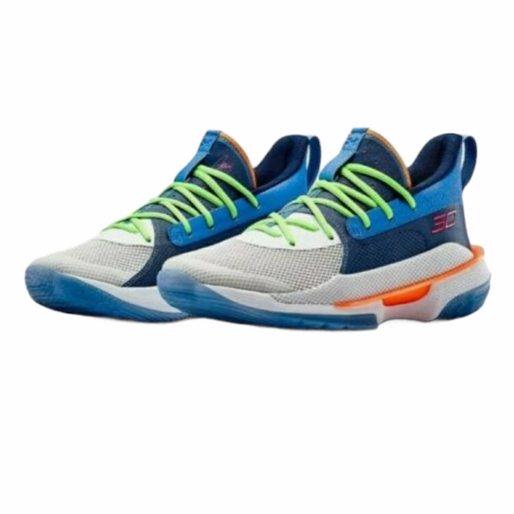 """NWT UNDER ARMOUR CURRY 7 """"SUPER SOAKER"""" SNEAKERS"""